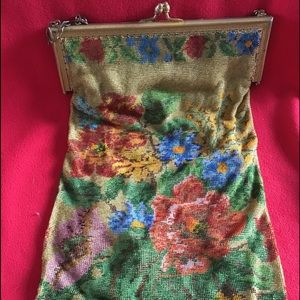 Antique Beaded Mesh Evening Bag